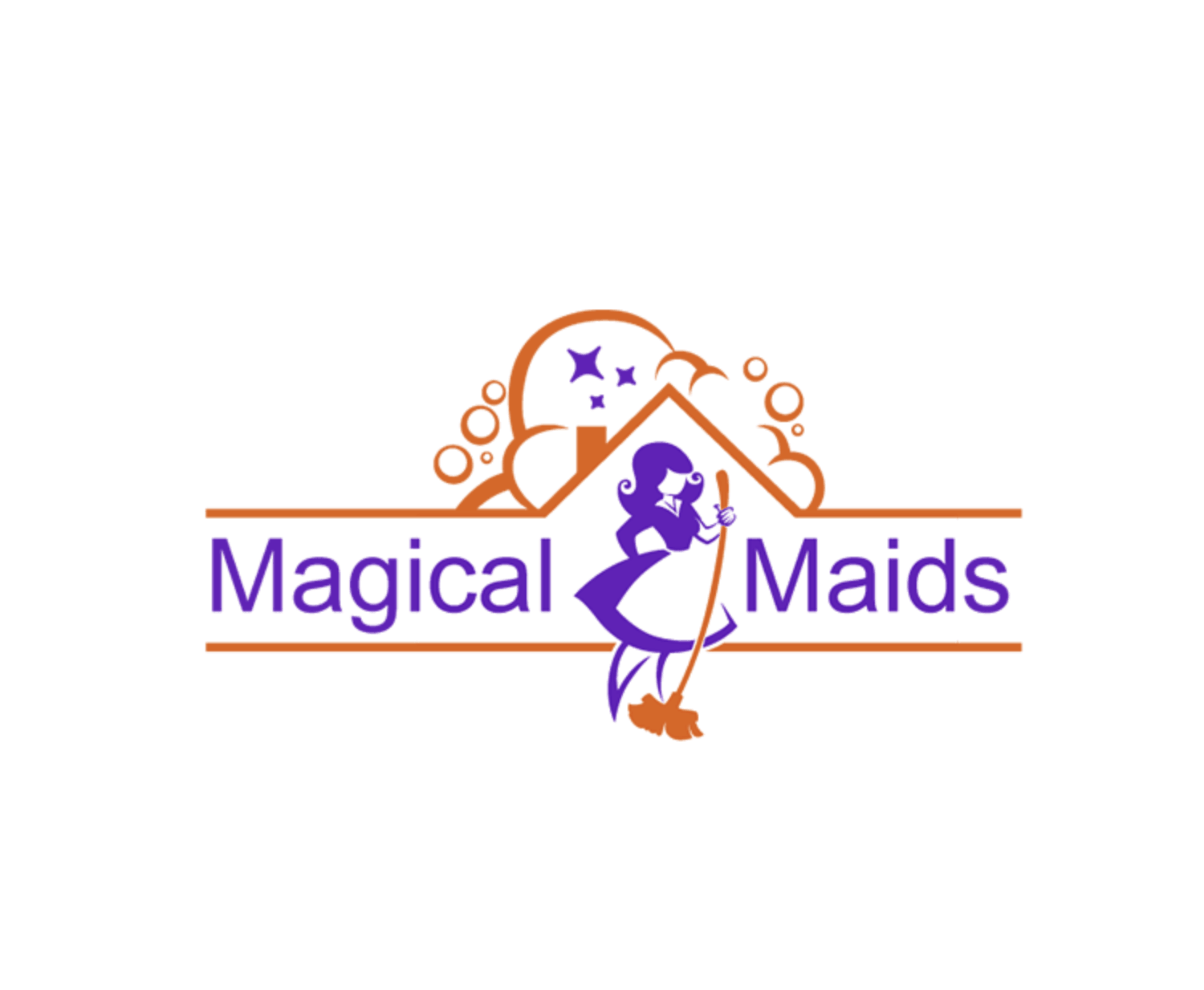 Tailored Logo-Magical Maids 로고